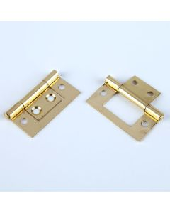 Brassed Flush Hinges. Pack of 25 pairs