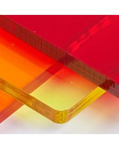 Transparent Perspex Cast Acrylic Sheet - 1000 x 500 x 3mm - Assorted Colours