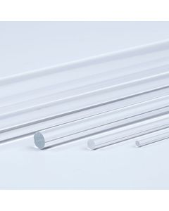 Clear Round Acrylic Rods - 500mm