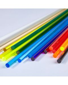 Coloured Round Extruded Acrylic Rods - 3.2mm dia.