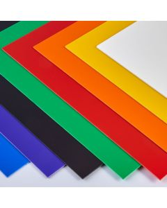 Coloured High Impact Polystyrene Sheets - 457 x 305mm