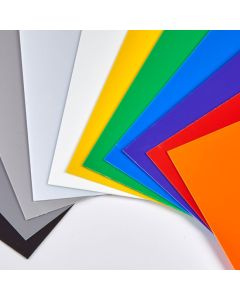 Coloured High Impact Polystyrene Sheets - 457 x 305mm - Mixed Packs