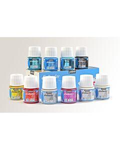 Pebeo Setacolor Glitter Paints. Set of 10