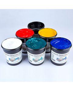 Specialist Crafts Water-Based Textile Ink 1kg. Set of 6